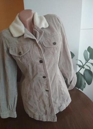 Стильна велюрова подовжена куртка