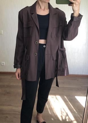 Пиджак  в стиле сафари размер  xl .