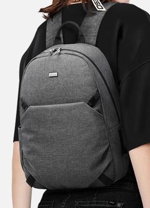 Водонепроницаемый серый рюкзак yeso c внешним usb и 3.5 мм портами