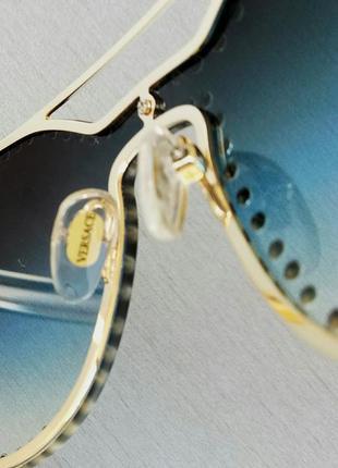 Versace очки женские солнцезащитные с камнями с сине голубым градиентом7 фото