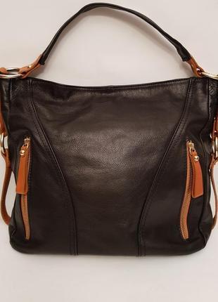 Суперроскошная кожаная сумка итальянского бренда lavorazione artigianale
