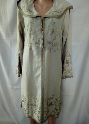 Платье с капюшоном, этно, бохо