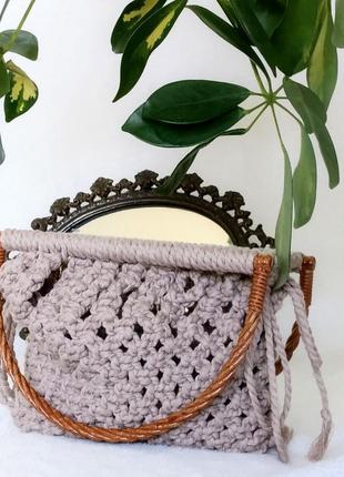 Плетеная/вязаная сумка