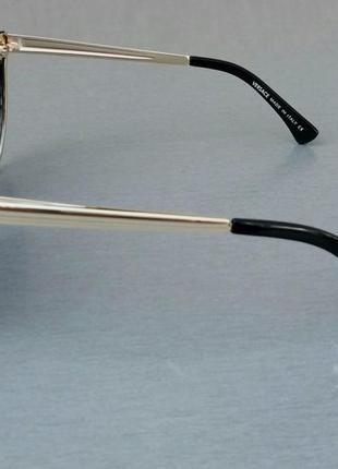 Versace очки женские солнцезащитные стильные черные с градиентом с камнями3 фото