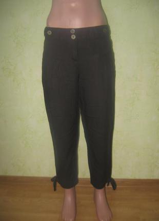 Летние брюки укороченные  23% лен