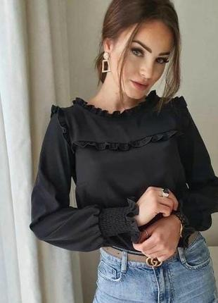 🔥новинка🔥 блузка с рюшем / цвета / супер цена 🔥