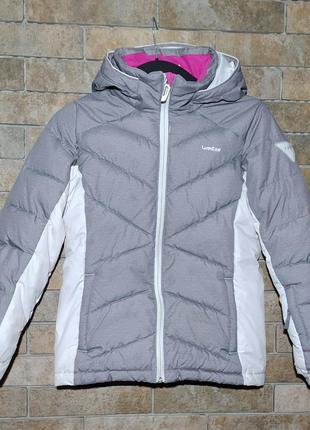 Decathlon оригинал детская тёплая зимняя куртка курточка на девочку 9 10 лет 133-142см