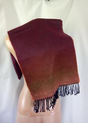 Бордовый кашемировый шарф