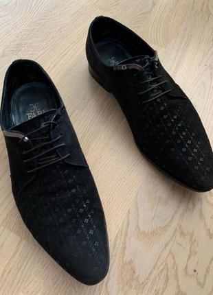 Туфли fabi оригинал натуральный замш