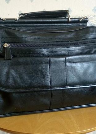 Вместительный портфель для документов а4 prada, натуральная кожа