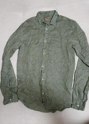 Льняная рубашка р. 152