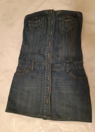 Женское джинсовое платье, xs