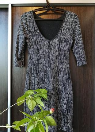 Красивое, блестящее платье сукня(нейлон) new look