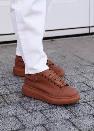 Крутые кроссовки ! alexander mcqueen chestnut  александ маквин коричнивые