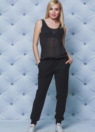 Женские спортивные штаны на манжете
