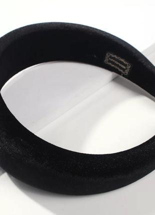 Объемный женский бархатный обруч для волос / ободок для головы