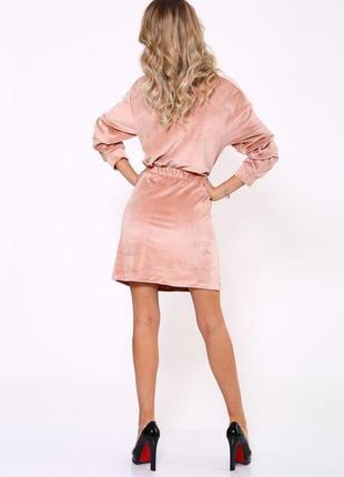 Платье женское 112r466 цвет пудровый2 фото