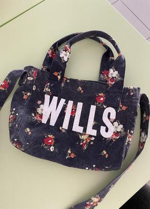 Джинсовая сумка jack wills