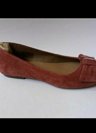 Ugg новые кожаные балетки туфли туфельки мокасины оригинал 36 37 39 40