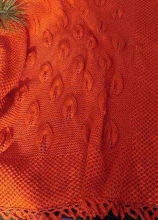 Детский вязаный плед – вязаный плед в коляску, одеяло в кроватку, подарок младенцу