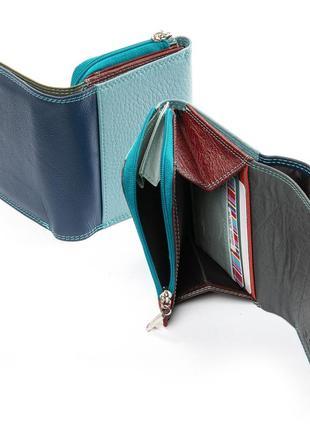 Женский компактный кожаный кошелек
