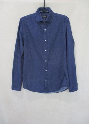 Рубашка под джинс/длинный рукав/демисезонная/тёплая  s