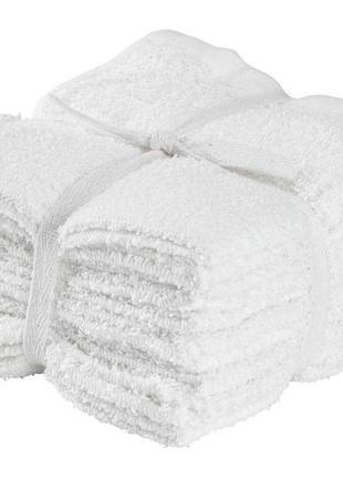 Набор белых полотенец 10 шт 30* 30 см, недорого