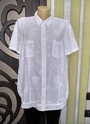 Распродажа!!! красивая белая блуза рубашка