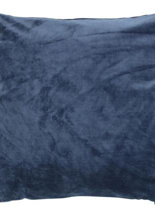 Велюровый чехол на подушку 40x40см синий