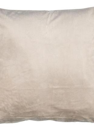 Велюровый чехол на подушку 40x40см бежевый
