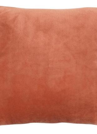Велюровый чехол на подушку 40x40см теракот