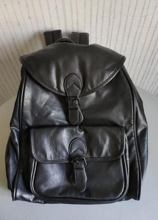 Рюкзак черный экокожа