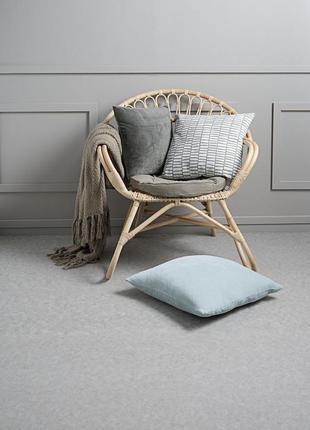 Велюровый чехол на подушку 40x40см светло - серый