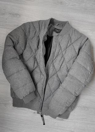 Стеганая куртка бомбер