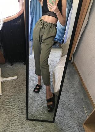 Слоучи брюки штаны мом бананы