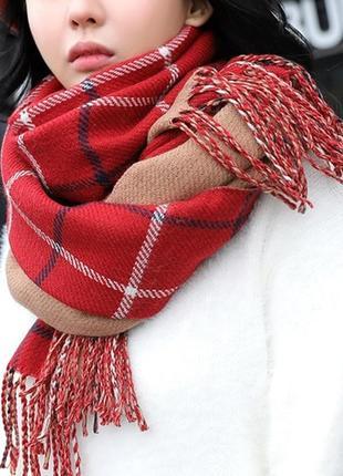7-48 стильний теплий шарф, накидка, палантин, платок