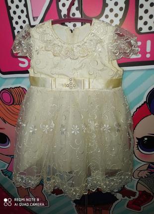 Платье на годик для вашей принцессы