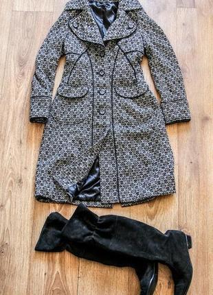 Пальто приталенное полушерстяное vila, размер s