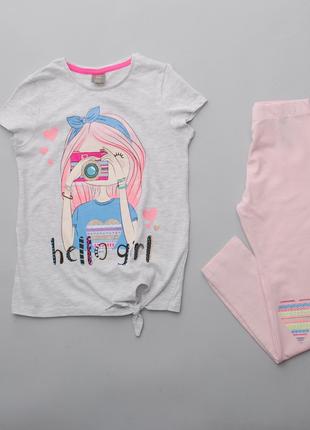 Комплект для девочки футболка и лосины pepco