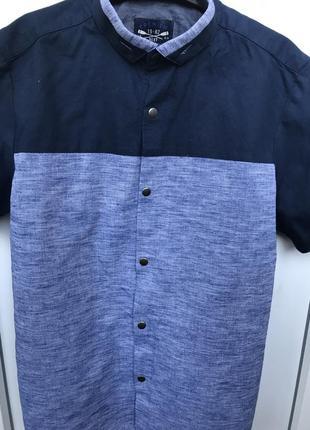 Рубашка next, на кнопках короткий рукав, 8-9лет