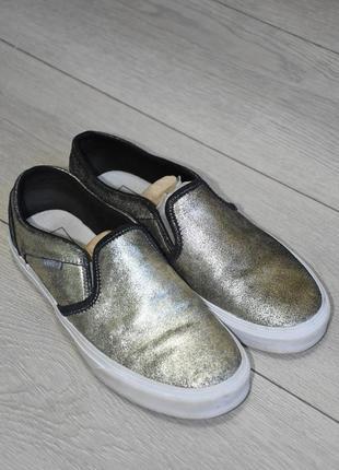 Кожаные слипоны кеды кроссовки vans оригинал размер 39 стелька 25 см женские