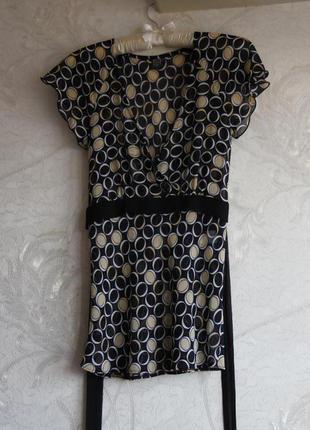 Блуза шифоновая с поясом
