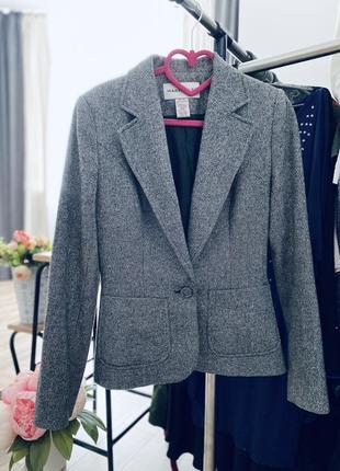 Шикарный шерстяной пиджак, жакет шерстяной