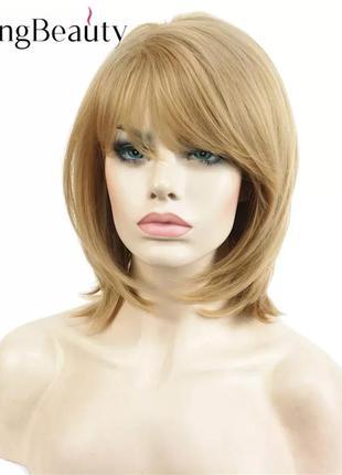Натуральный женский парик короткий светлые волосы