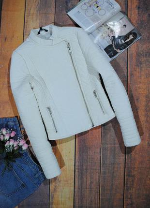 Белая куртка косуха candy couture размер xs/s