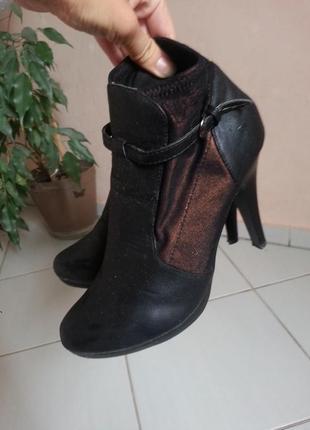 Женские осенние ботфорты  на каблуке