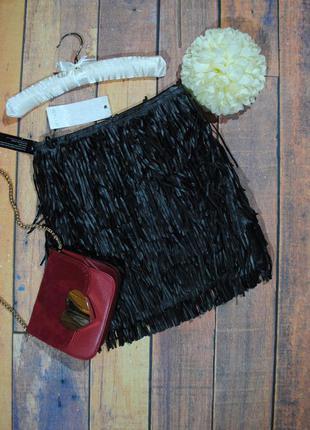+1200 вещей в наличии! очень стильная юбка с бахромой wyldr размер xs
