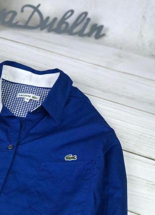 Рубашка женская lacoste насыщенного синего цвета