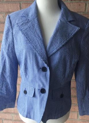 Блейзер пиджак s-m полоску полосочку катоновый 44-46