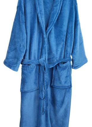 Мягкий уютный халат синего цвета s -m размер